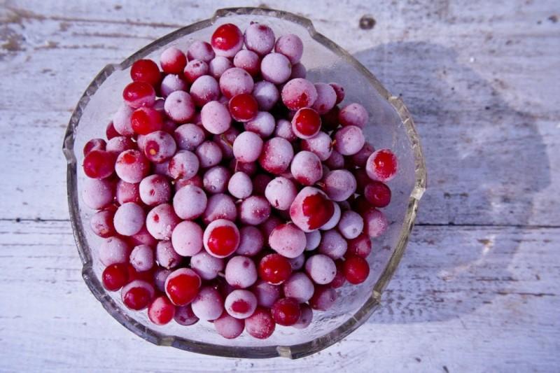 zmrożone owoce kaliny