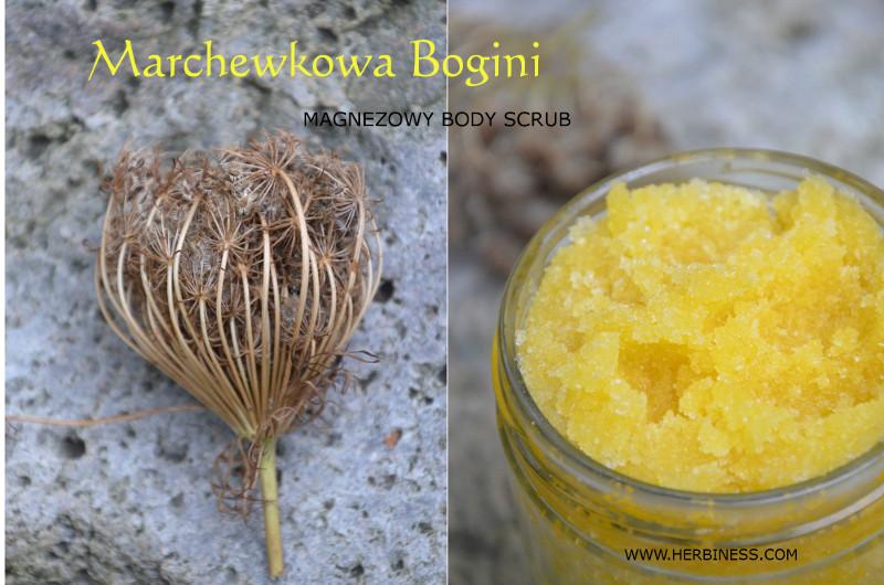 Nasiona marchewki, uczep trójlistkowy, nasiona niecierpka - zrób sam marchewkowy body scrub z magnezem. Suplementacja magnezem i pielęgnacja skóry.